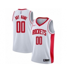 Youth Houston Rockets Customized Swingman White Finished Basketball Jersey - Association Edition