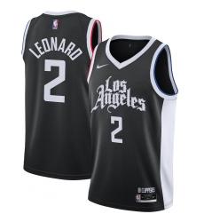 Men's LA Clippers #2 Kawhi Leonard Nike Black 2020-21 Swingman Player Jersey