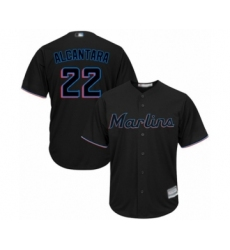 Youth Miami Marlins #22 Sandy Alcantara Authentic Black Alternate 2 Cool Base Baseball Jersey