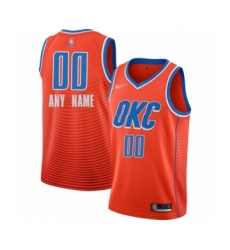 Youth Oklahoma City Thunder Customized Swingman Orange Finished Basketball Jersey - Statement Edition