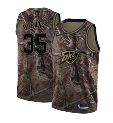 Men's Nike Oklahoma City Thunder #35 Kevin Durant Swingman Camo Realtree Collection NBA Jersey