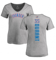 NBA Women's Nike Oklahoma City Thunder #35 Kevin Durant Ash Backer T-Shirt