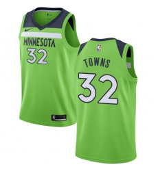 Women's Nike Minnesota Timberwolves #32 Karl-Anthony Towns Authentic Green NBA Jersey Statement Edition