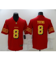 Men's San Francisco 49ers #8 Steve Young Red Gold Untouchable Limited Jersey