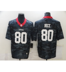 Men's San Francisco 49ers #80 Jerry Rice Camo 2020 Nike Limited Jersey