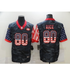 Men's San Francisco 49ers #80 Jerry Rice Camo Flag Nike Limited Jersey