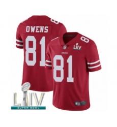 Men's San Francisco 49ers #81 Terrell Owens Red Team Color Vapor Untouchable Limited Player Super Bowl LIV Bound Football Jersey
