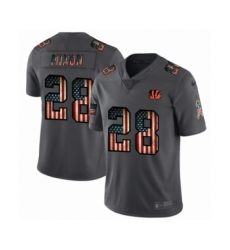 Men's Cincinnati Bengals #28 Joe Mixon Limited Black USA Flag 2019 Salute To Service Football Jersey