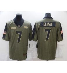 Men's Denver Broncos #7 John Elway Nike Olive 2021 Salute To Service Limited Player Jersey