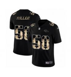 Men's Denver Broncos #58 Von Miller Black Statue of Liberty Limited Football Jersey