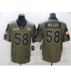 Men's Denver Broncos #58 Von Miller Nike Olive 2021 Salute To Service Limited Player Jersey