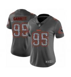 Women's Cleveland Browns #95 Myles Garrett Limited Gray Static Fashion Football Jersey