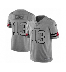 Men's Tampa Bay Buccaneers #13 Mike Evans Limited Gray Team Logo Gridiron Football Jersey