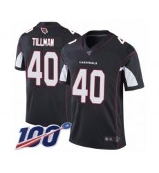 Men's Arizona Cardinals #40 Pat Tillman Black Alternate Vapor Untouchable Limited Player 100th Season Football Jersey