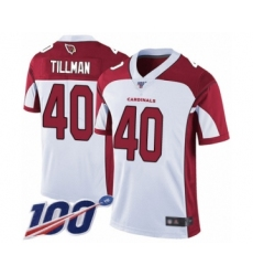 Men's Arizona Cardinals #40 Pat Tillman White Vapor Untouchable Limited Player 100th Season Football Jersey