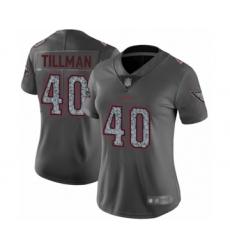 Women's Arizona Cardinals #40 Pat Tillman Limited Gray Static Fashion Football Jersey