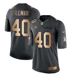 Youth Nike Arizona Cardinals #40 Pat Tillman Limited Black/Gold Salute to Service NFL Jersey