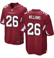 Men's Nike Arizona Cardinals #26 Brandon Williams Game Red Team Color NFL Jersey