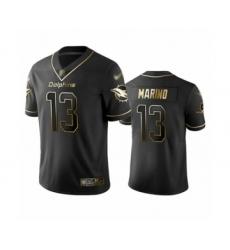 Men's Miami Dolphins #13 Dan Marino Limited Black Golden Edition Football Jersey