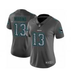 Women's Miami Dolphins #13 Dan Marino Limited Gray Static Fashion Football Jersey