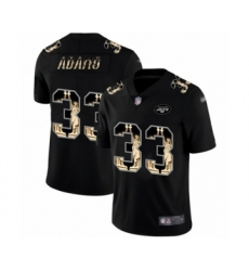 Men's New York Jets #33 Jamal Adams Limited Black Statue of Liberty Football Jersey