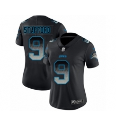 Women's Detroit Lions #9 Matthew Stafford Limited Black Smoke Fashion Football Jersey