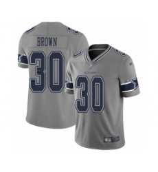 Youth Dallas Cowboys #30 Anthony Brown Limited Gray Inverted Legend Football Jersey