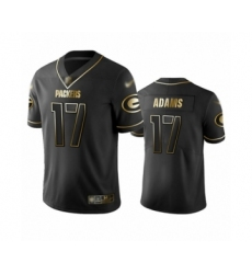 Men's Green Bay Packers #17 Davante Adams Limited Black Golden Edition Limited Football Jersey