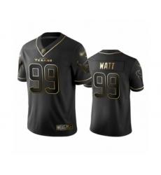 Men's Houston Texans #99 J.J. Watt Limited Black Golden Edition Football Jersey