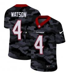 Men's Houston Texans #4 Deshaun Watson Camo 2020 Nike Limited Jersey