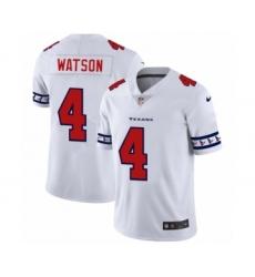 Men's Houston Texans #4 Deshaun Watson White Team Logo Cool Edition Jersey