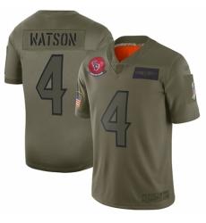 Women's Houston Texans #4 Deshaun Watson Limited Camo 2019 Salute to Service Football Jersey