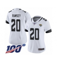 Women's Nike Jacksonville Jaguars #20 Jalen Ramsey White Vapor Untouchable Limited Player 100th Season NFL Jersey